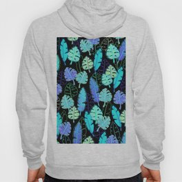 tropic leaves pattern (monstera and the bird of paradise) Hoody