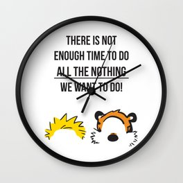 Calvin and Hobbes Quotes Wall Clock