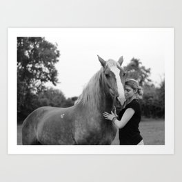 Horse 1ne Art Print