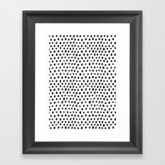 Polka dot rain Framed Art Print