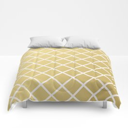 Pineapple Pattern Gold Comforters