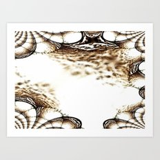 A Sparkling Sand Fractal Art Print