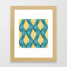 interweaving of leaves Framed Art Print