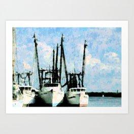 Home Of The Shrimp Fleet Art Print