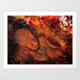 harmony in silence Art Print