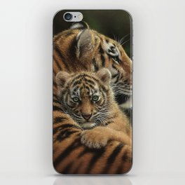 Tiger Mother and Cub - Cherished iPhone Skin