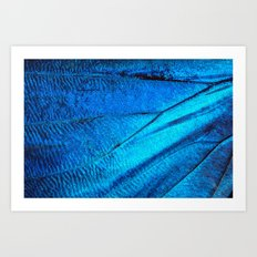 BUTTERFLY MAGNIFIED Art Print