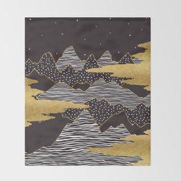 Gold Mountain Peaks Throw Blanket
