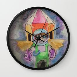 Ground Control To Mgr Tom Wall Clock