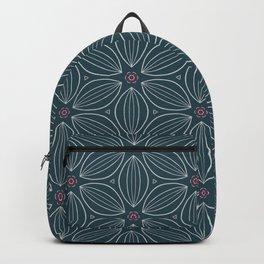 Floral minimal Lines pattern  retro Backpack