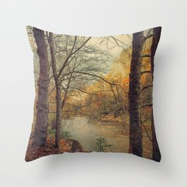 Over the River Through the Woods Throw Pillow