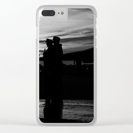 solider sunset - 2 Clear iPhone Case