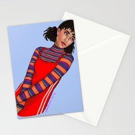 Vintage fashion girl Stationery Cards