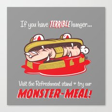 Monster meal Canvas Print
