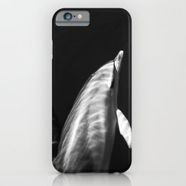 Black and white dolphins iPhone Case