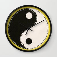 religion Wall Clocks featuring Science & Religion by Lady Pai
