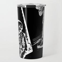 Sketched Sad Clowns Travel Mug