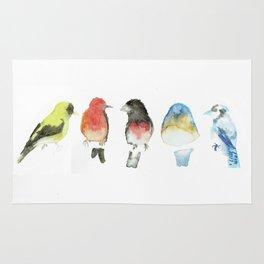 Watercolor Birds Rug
