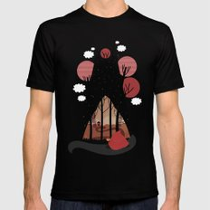 Into the woods MEDIUM Black Mens Fitted Tee