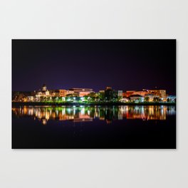 Fredericton at Night Canvas Print