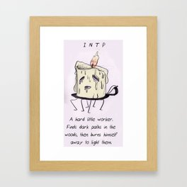 MBTI GHOSTS AND GHOULS - INTP  Framed Art Print