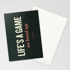 Life's a Game, so level up. Stationery Cards