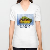 fruits V-neck T-shirts featuring Summer fruits by digital2real