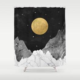 Moon and Stars Duschvorhang