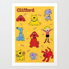 Clifford the big red dog Art Print
