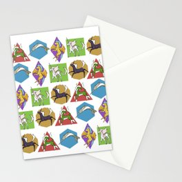 Geometric Unicorns Stationery Cards