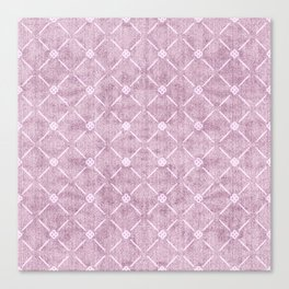 Faux Velvet Dusty Mauve Light Diamond Pattern Canvas Print