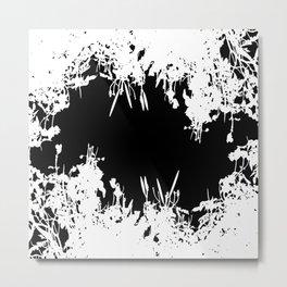 White And Black Grunge Artwork Metal Print