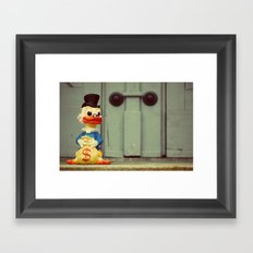 Uncle Scrooge Framed Art Print