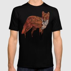Red Fox LARGE Black Mens Fitted Tee