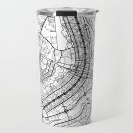 Brasilia Map White Travel Mug
