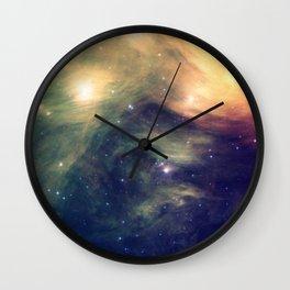 Galaxy: Pleiades Star Cluster neBULa Deep Pastels Wall Clock