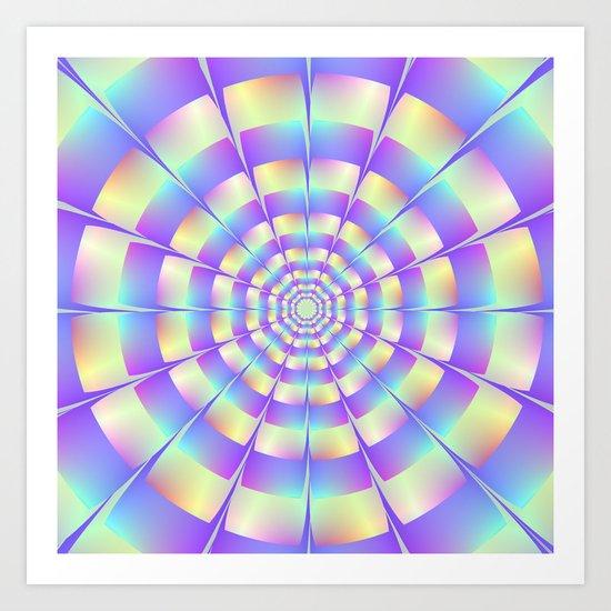 Octagonal Tunnel Art Print
