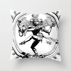 Natraj Dance - Mono Throw Pillow