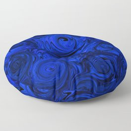 China Blue Rose Abstract Floor Pillow