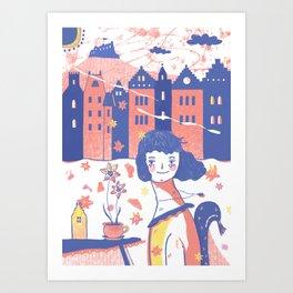 Spring in Edinburgh Art Print