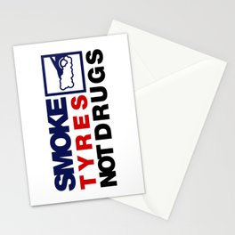 SMOKE TYRES NOT DRUGS v5 HQvector Stationery Cards