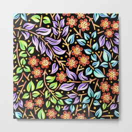 Filigree Flora Metal Print