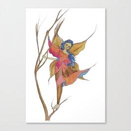 The Autumn Wind Fairy Canvas Print