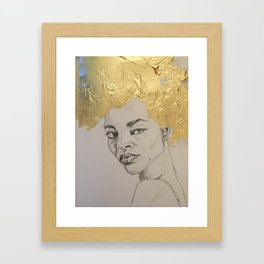 gold leaf Framed Art Print