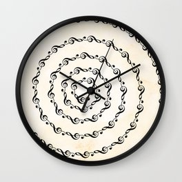 Watercolor sol key swirl Wall Clock