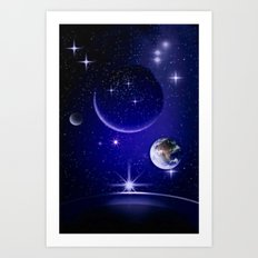 Fantastic yourney into space. Art Print