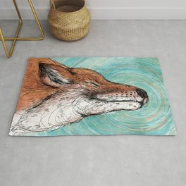 The Happiest Fox Rug