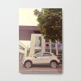"""Fiat 500X """"The Perturbator"""" Metal Print"""