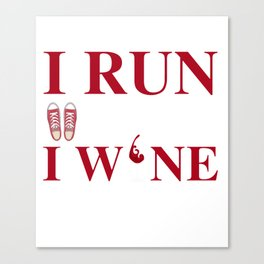 Best Costume For Running Lover. Canvas Print