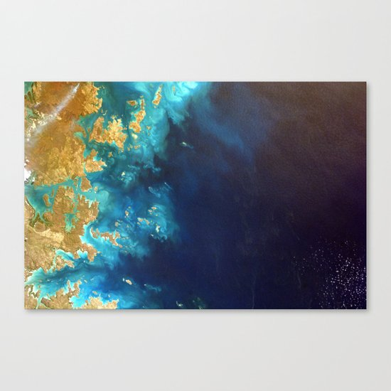 Ocean from above Canvas Print